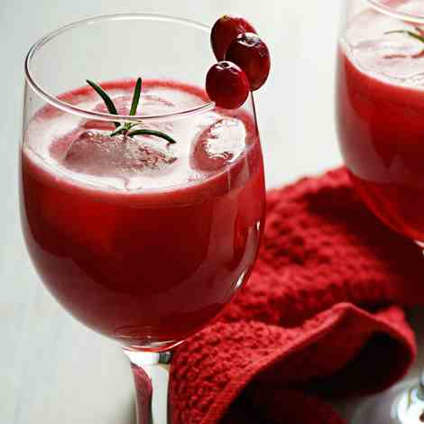 Fresh homemade cranberry juice