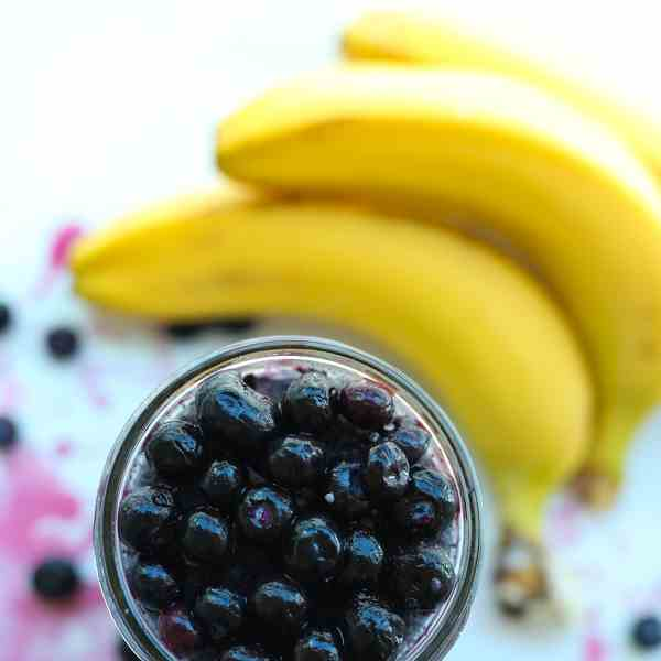 Banana Blueberry Smoothie Without Yogurt