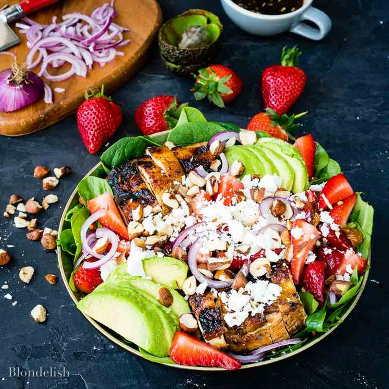 Strawberry And Avocado Chicken Salad
