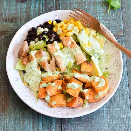Sweet Potato Salad with Avocado Cilantro D