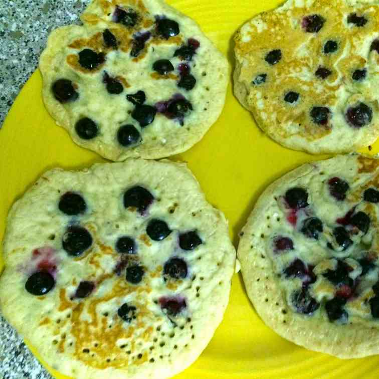 Multigrain Blueberry pancakes