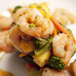 Shrimp and Mango Stir Fry