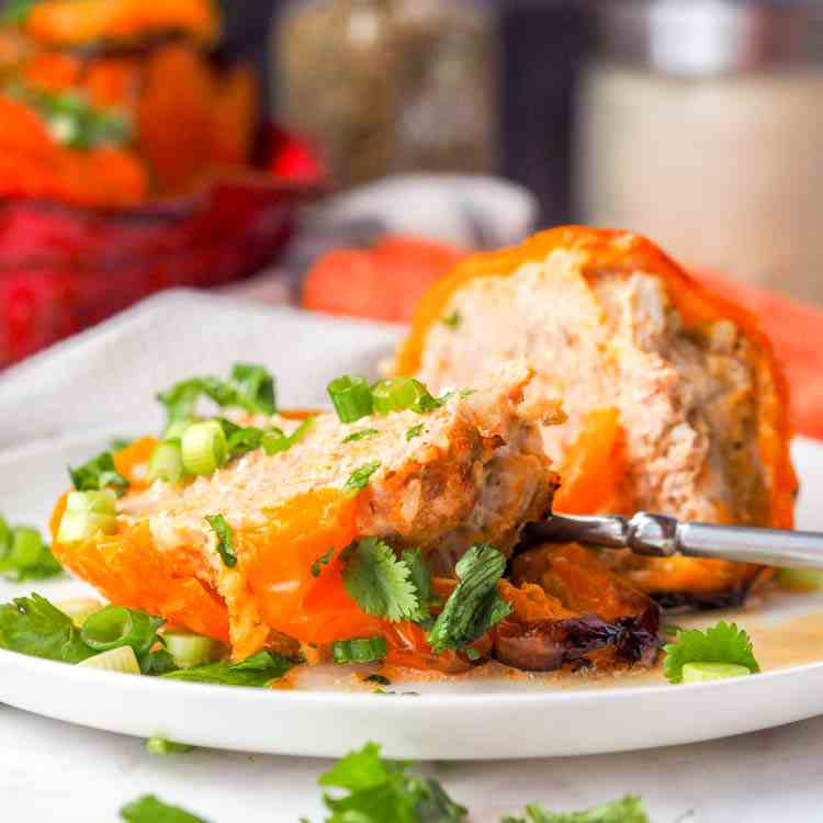 Chicken and Carrot Stuffed Peppers