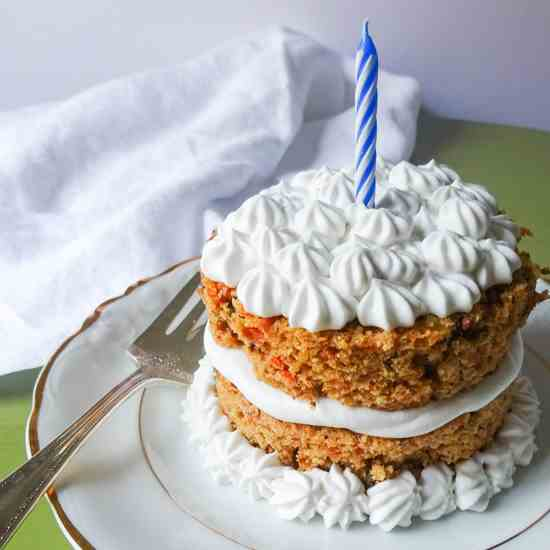 Healthier Carrot Cake with Maple Frosting
