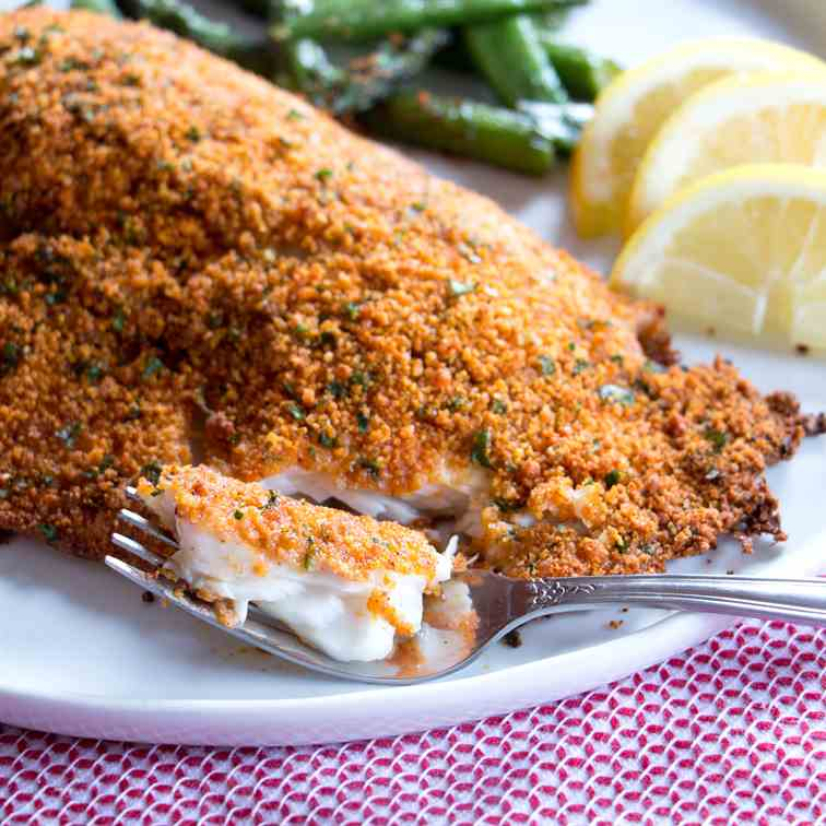 Baked Tilapia with Parmesan Crust