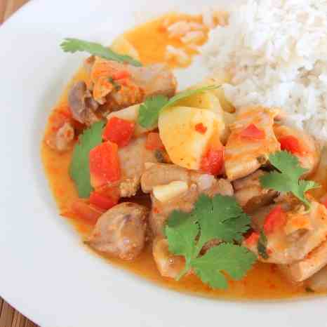 Poached Coconut Chicken Curry