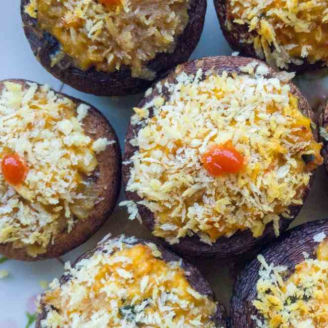 Tofu Stuffed Mushrooms