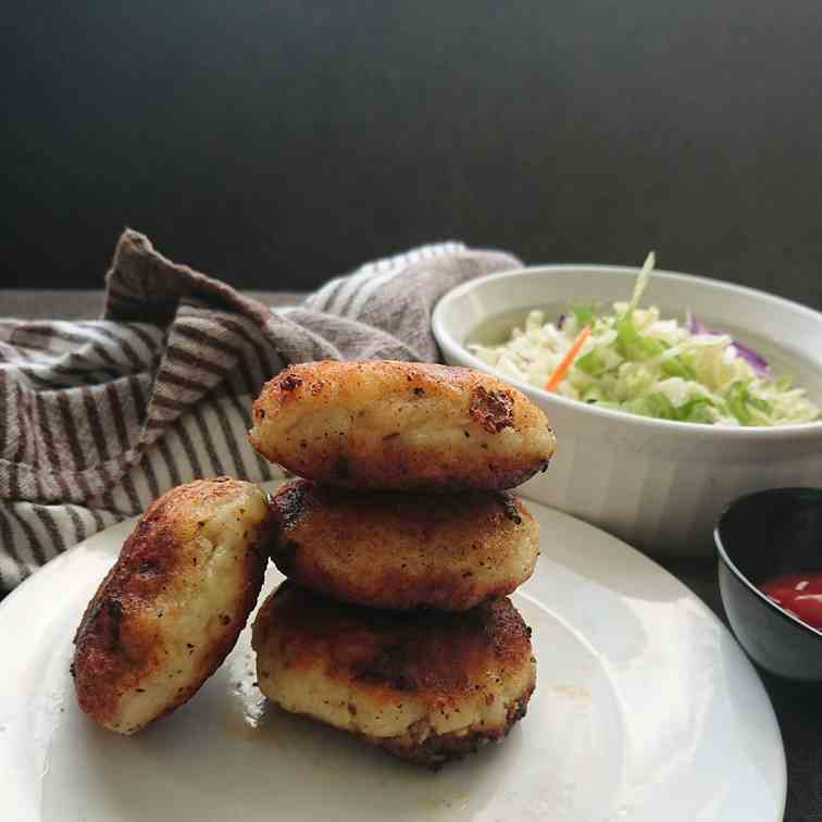 Potato and Mince Meat Cutlets