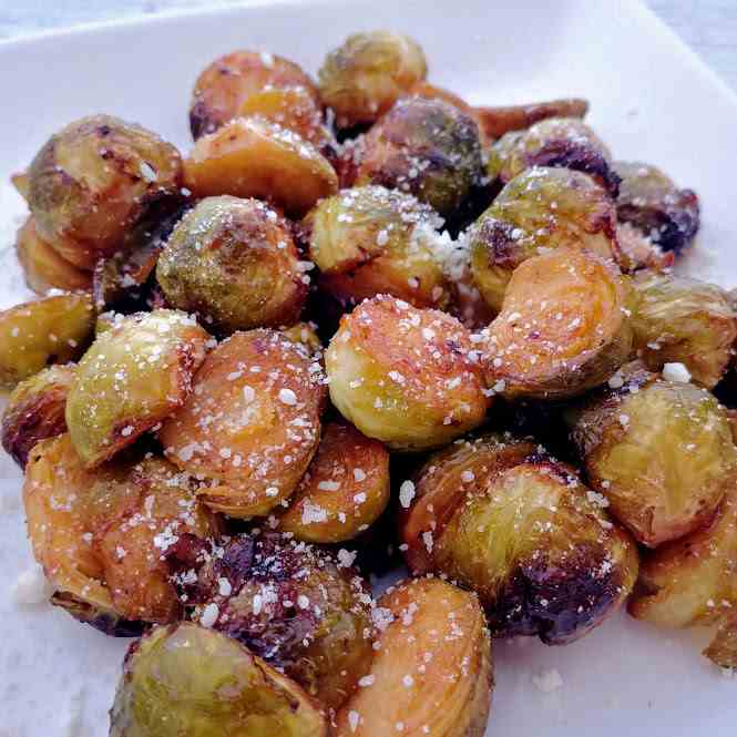 Air Fryer BBQ Brussels Sprouts