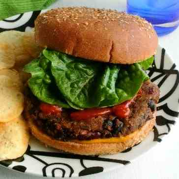 Kidney and Black bean Burgers