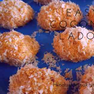 Easy Coconut Ladoo