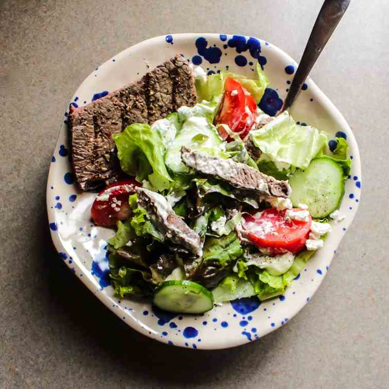 Steak and Goat Cheese Salad