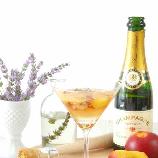 Lavender - Peach Champagne Cocktail Recipe