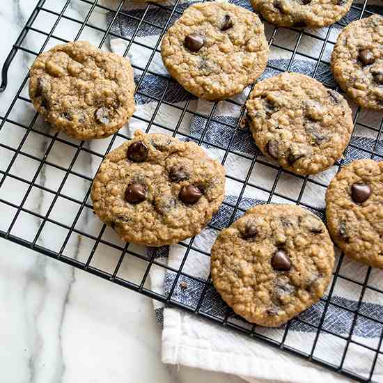 GF Peanut Butter Chocolate Chip Cookies