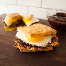 Breakfast Sandwich with Ancho Chile Jam