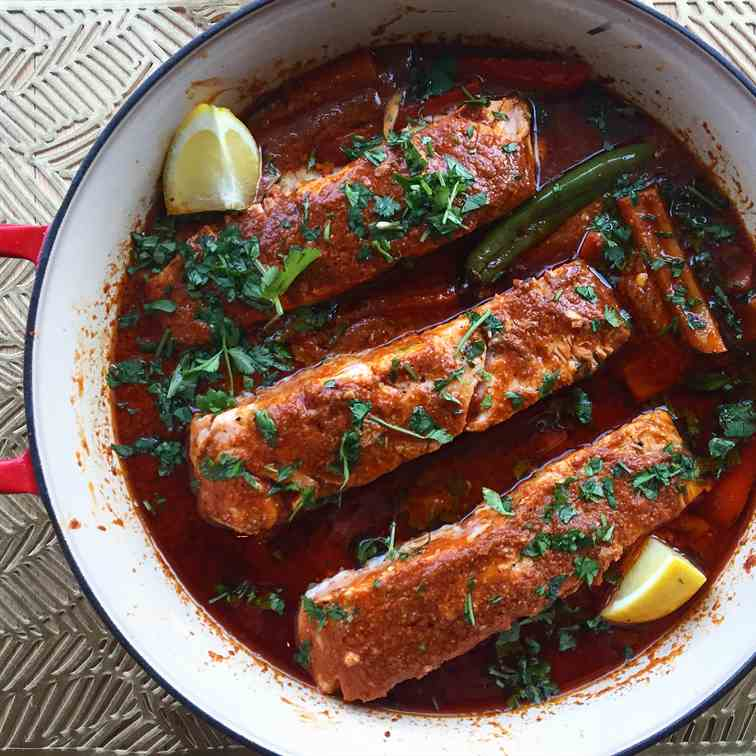 Salmon in Chriameh Sauce