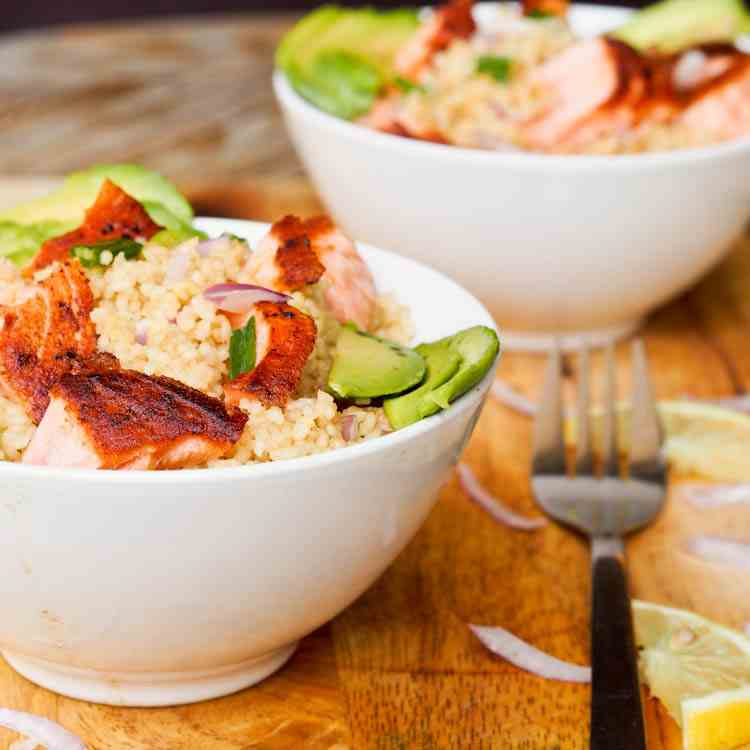 Asian Couscous Salmon