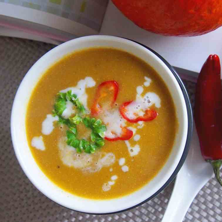 Asian style butternut squash soup