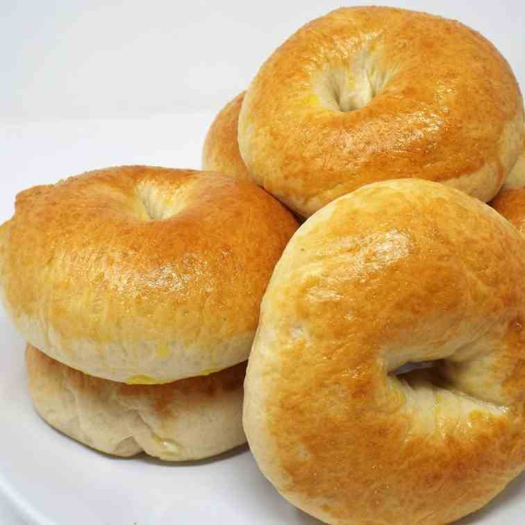 Homemade Garlic and Onion Bagels