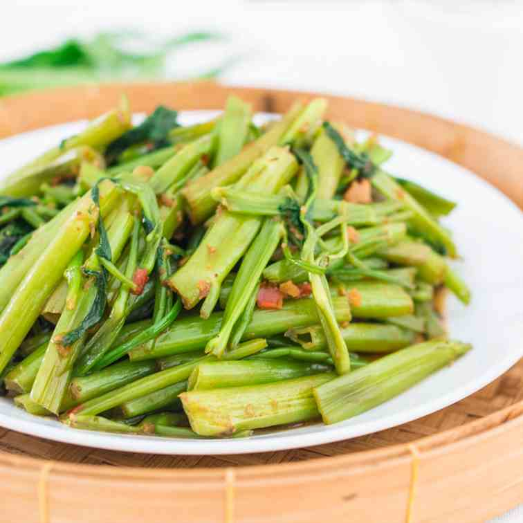 Thai Stir-Fried Morning Glory - Pad Pak Bo