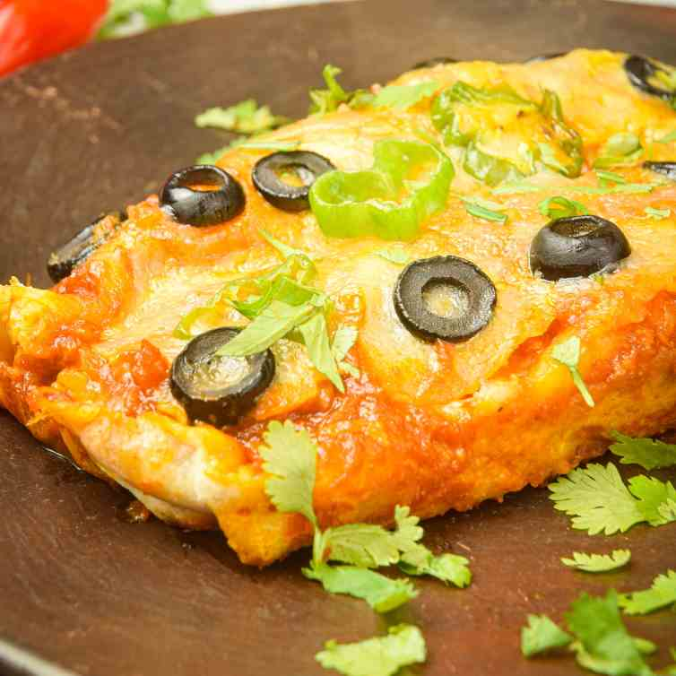 Electric Skillet Chicken Enchiladas