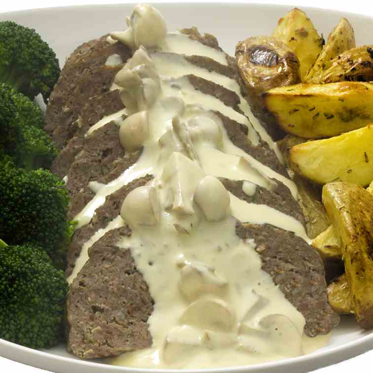 Classic Meatloaf and Mushroom Sauce
