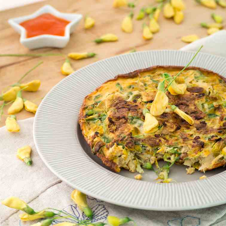 Sesbania Flower Omelette