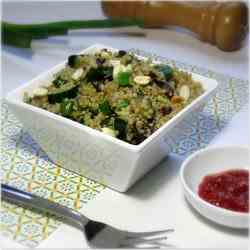 Quinoa With Cucumber And Black Beans