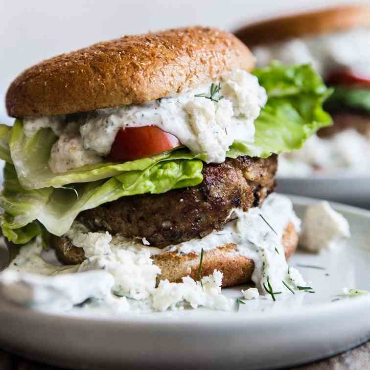 Mediterranean Turkey Burger