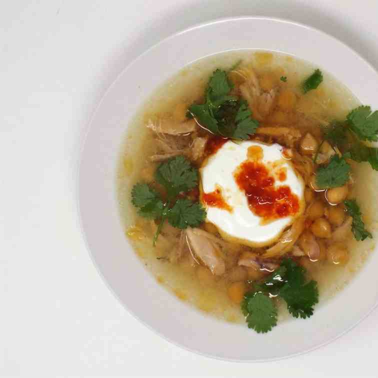 Chicken - Garbanzo Bean Soup