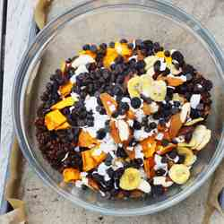 Tropical chocolate granola