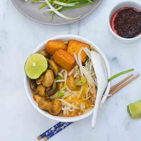Vegan Spicy Noodle Soup