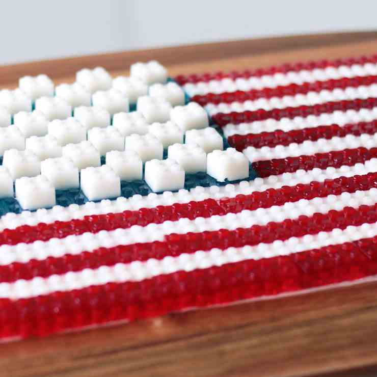Fourth of July American Flag Made of Gummy