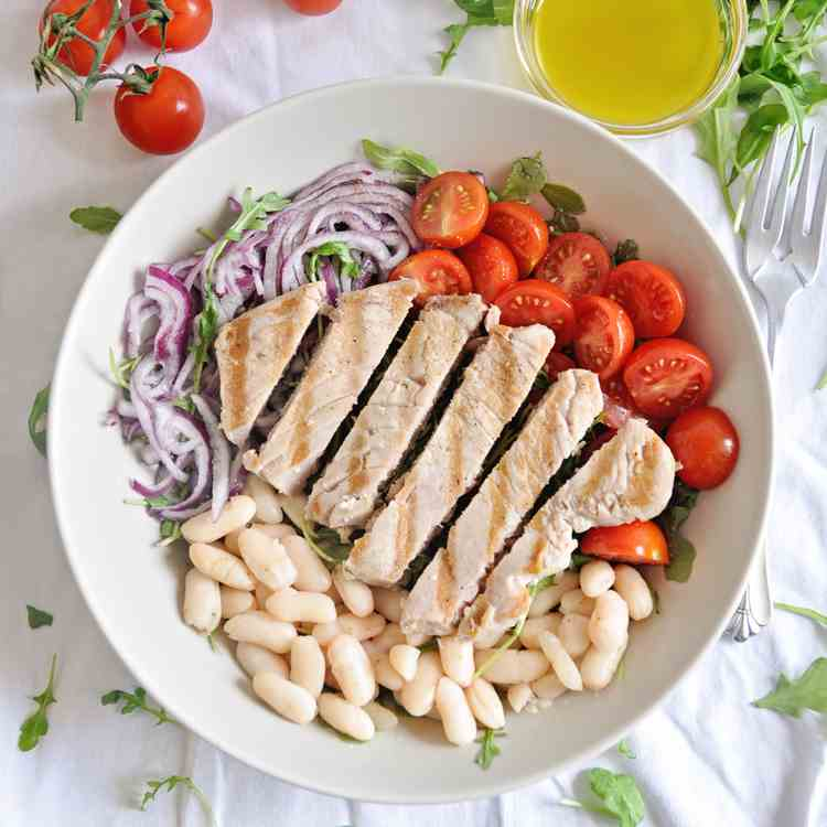 Grilled Tuna - White Bean Salad