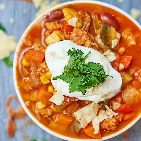 Turkey and Vegetable Chili
