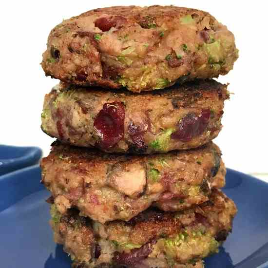 Healthy Mushroom Broccoli Bean Patty