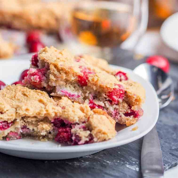 Vegan Almond Cranberry Cake