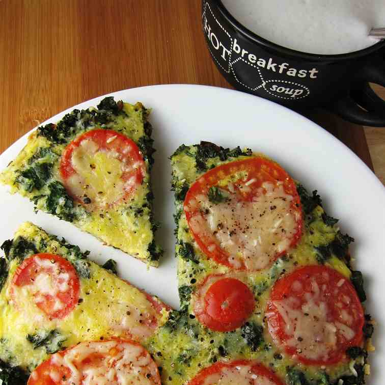 15 Minute Veggie Loaded No Bake Frittata
