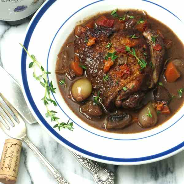 coq au vin for two