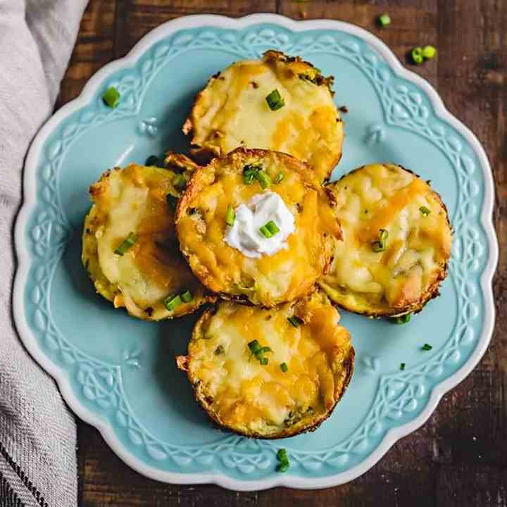 Leftover Cheesy Mashed Potato Muffins