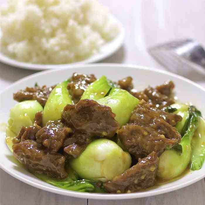 Beef With Bok Choy