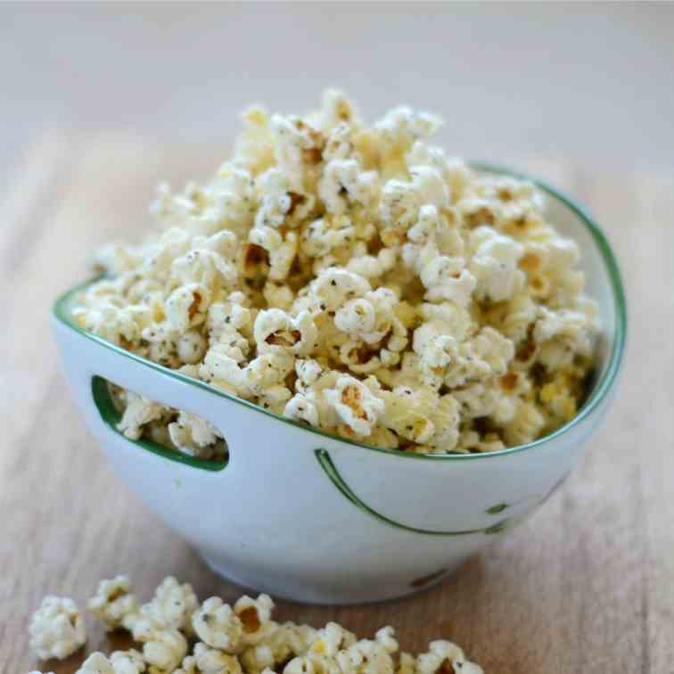 Herb and Parmesan Popcorn