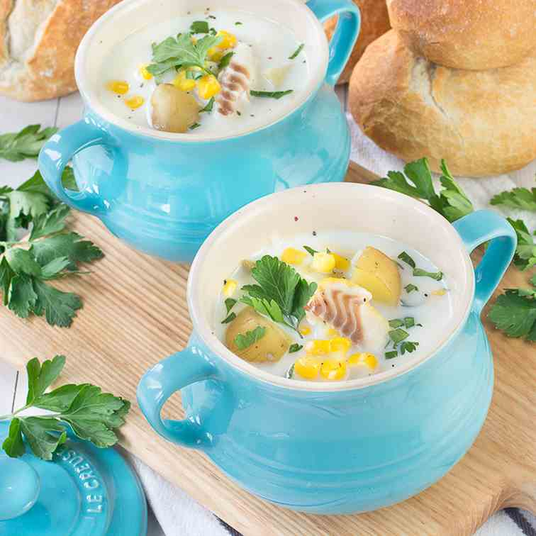 Smoked Haddock - Sweetcorn Chowder