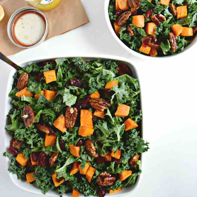 Roasted Sweet Potato - Kale Salad