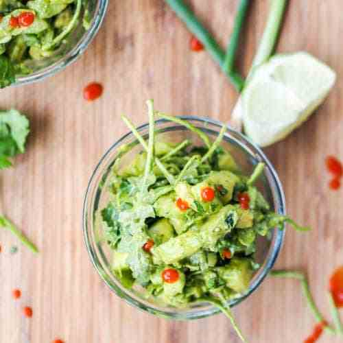 Vegan Cucumber Avocado Salad