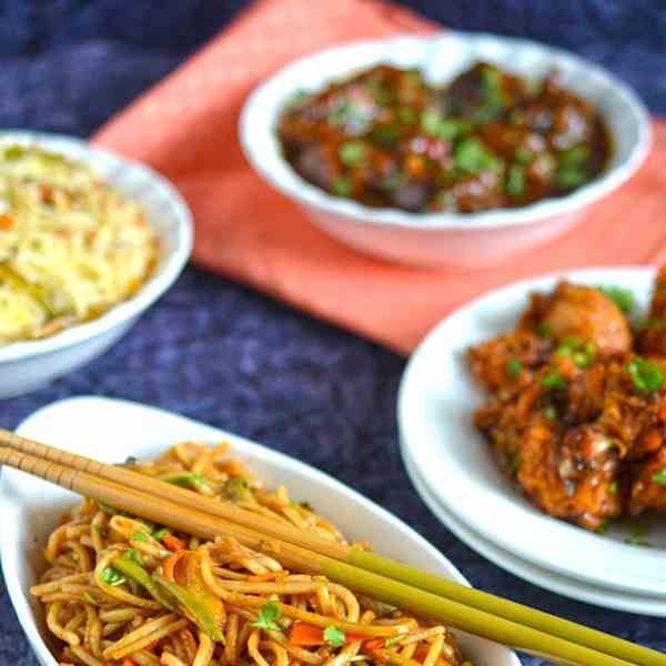 Spicy Vegetables Fried Noodles