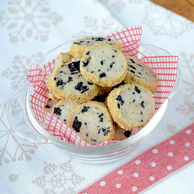 Blueberry Lime Shortbread