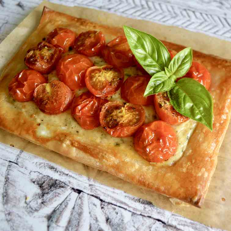 Roasted Tomato - Basil Tart