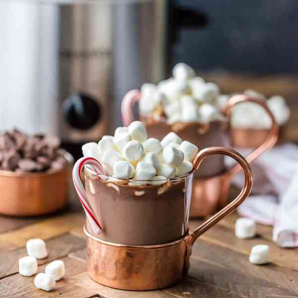 Slow Cooker Peppermint Hot Chocolate