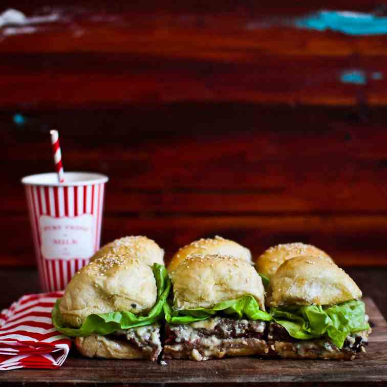 Blue Cheese Beef Sliders